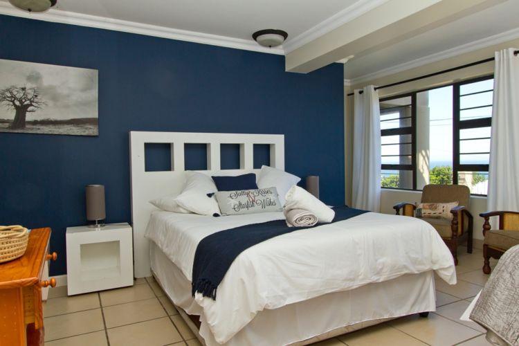 Blue room queen bed