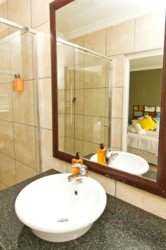 Green bathroom basin