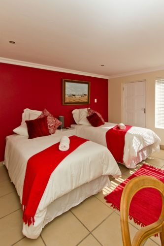 Red room three quarter beds and private entrance